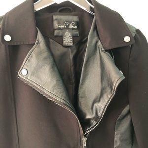 Brandon Thomas Jackets & Coats - 🌸 Brandon Thomas | cropped black moto jacket
